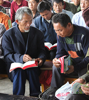 Believers in China get a first look at new Bibles and Gospels of John provided by BFTW.