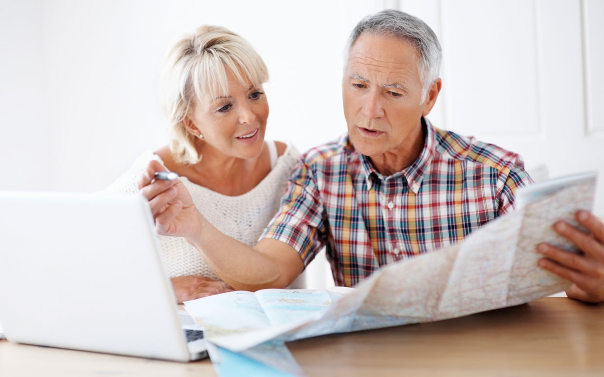 OlderCouple with Map